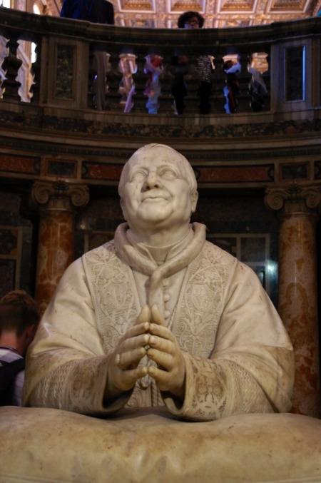 Statue of Pope Pius IX, Basilica Santa Maria Maggiore, Rome, Italy