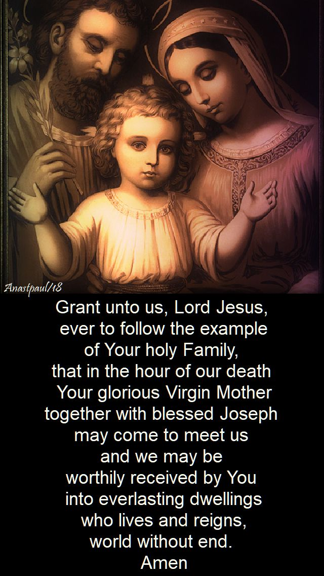 prayer for the help of the holy family - 1 feb 2018