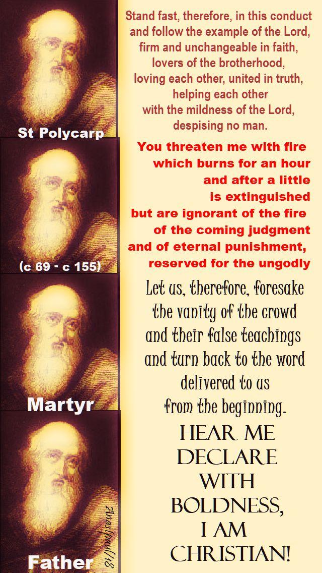 quotes of st polycarp-23 feb 2018