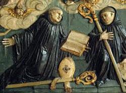 st benedict of anine fresco