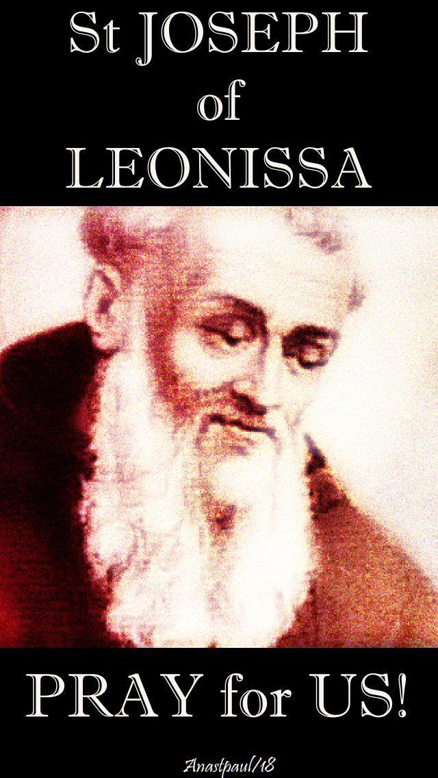 st joseph of leonissa - pray for us no 2 - 4 feb 2018