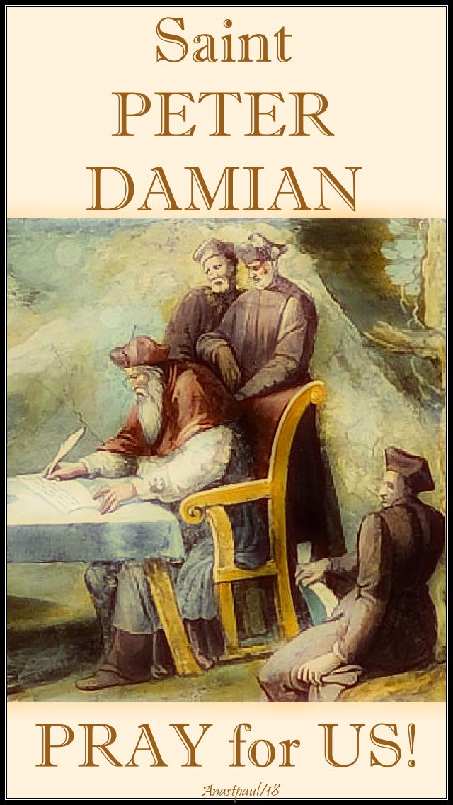 st peter damian - pray for us - 21 feb 2018