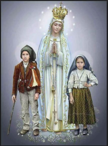 sts francisco and jacinta and our lady of fatima