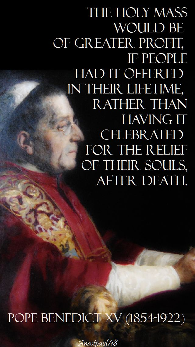the holy mass - pope benedict XV
