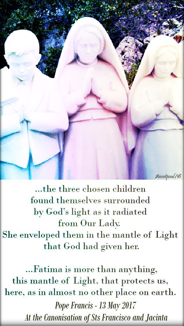 the three chosen children - pope francis canonisation homily - 20 feb 2018