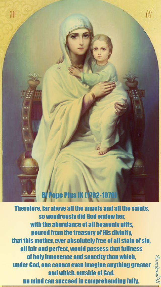 therefore, far above - bl pope pius IX - 7 feb 2018
