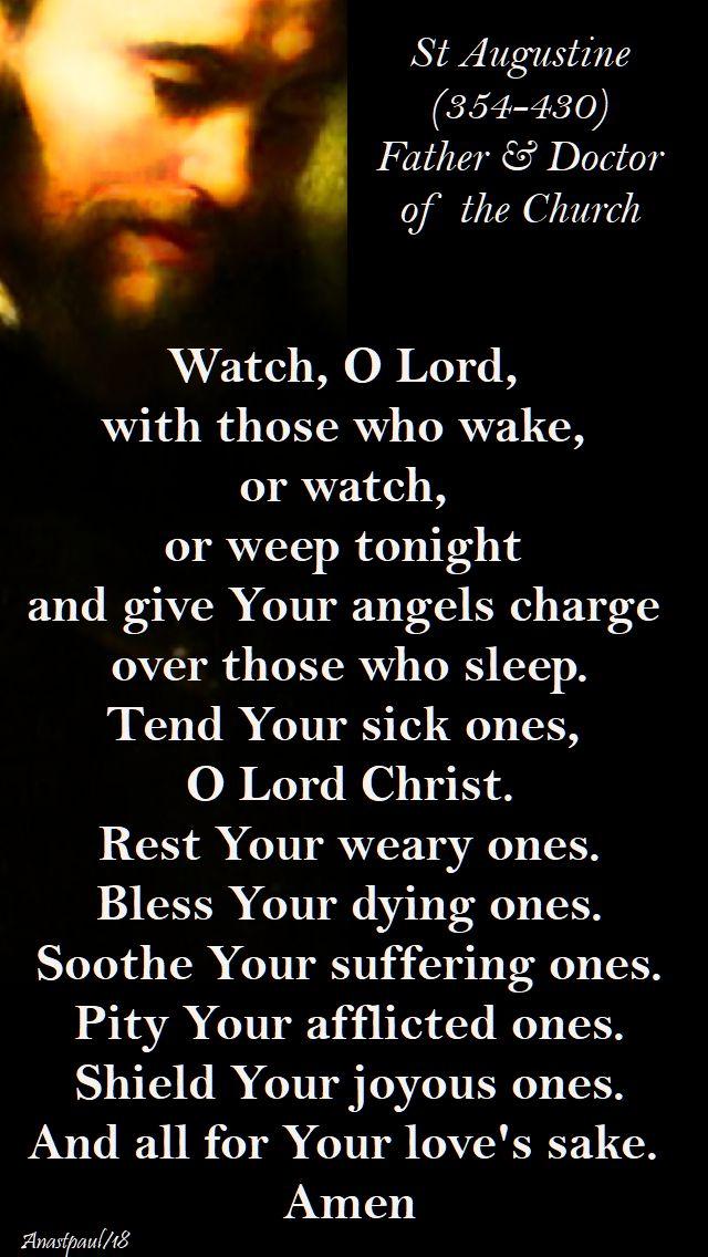 watch, o lord - st augustine - 17 feb 2017