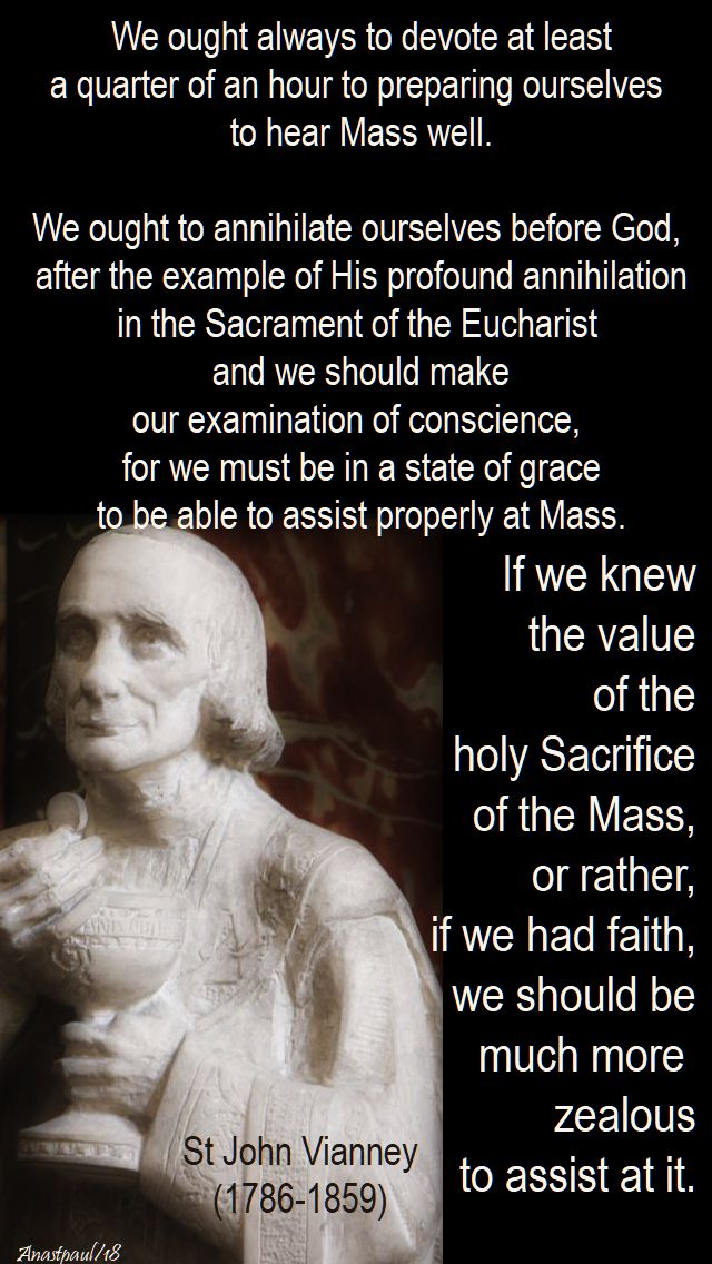 we ought always - st john vianney - 4 feb 2018