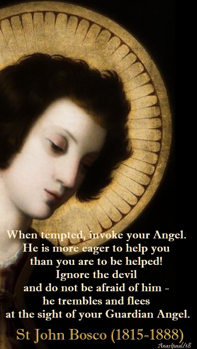 when tempted invoke your angel - st john bosco - 1 feb 2018