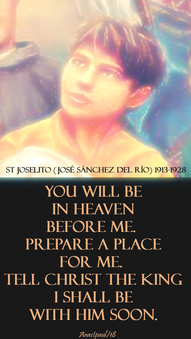 you will be - st joselito - 10 feb 2018