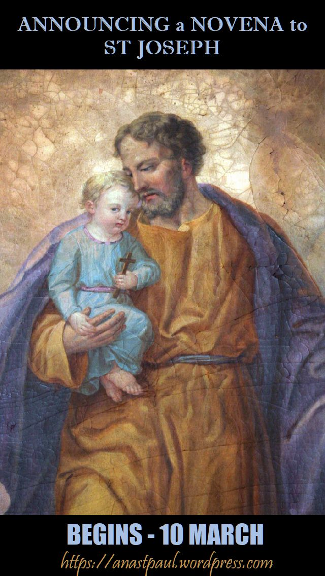announcing a novena to st joseph - begins 10 march - 5 march 2018