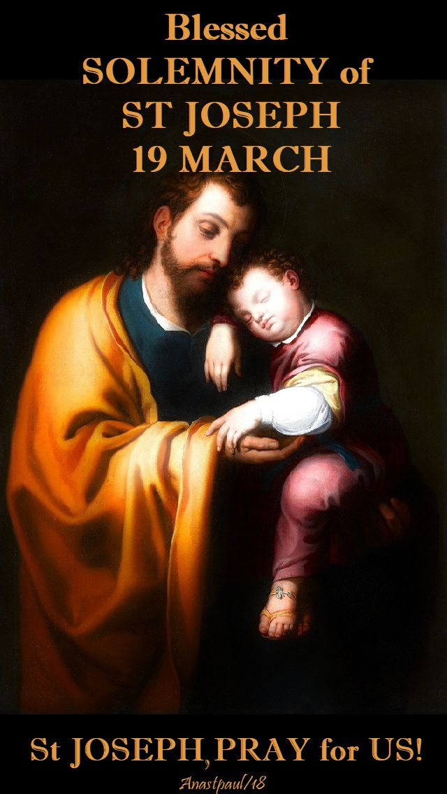 blessed solemnity of st joseph - 19 march 2018