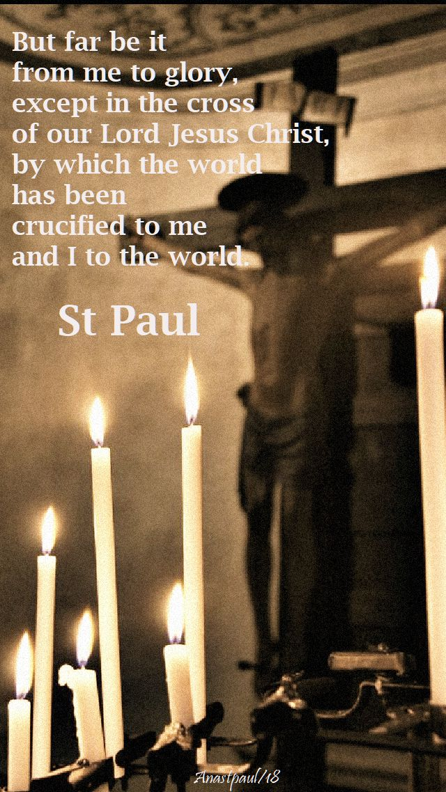 but far be it from me - st paul - good friday 30 march 2018
