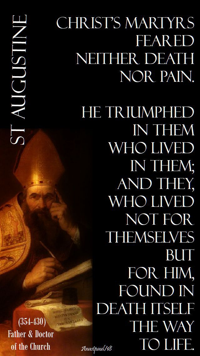christ's martyrs - st augustine - 14 march 2018