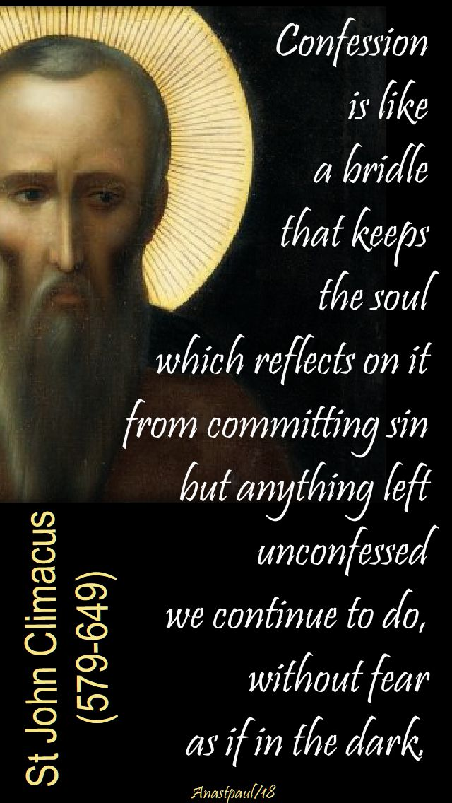 confession is like a bridle - st john climacus - 13 march 2018