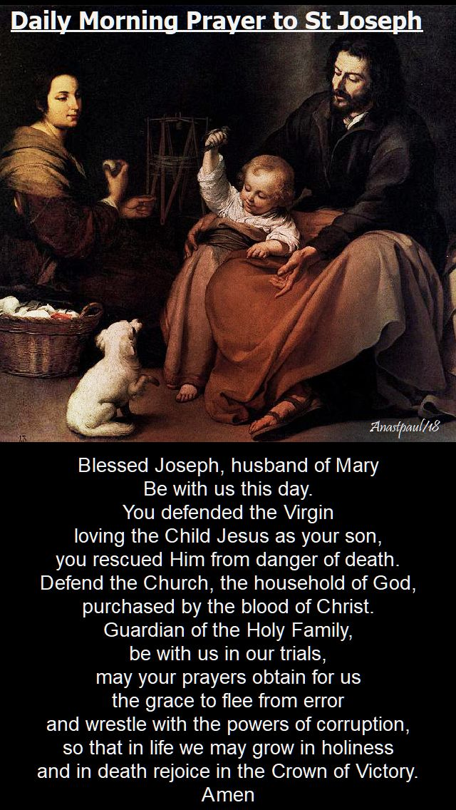 daily morning prayer to st joseph - 1 march 2018