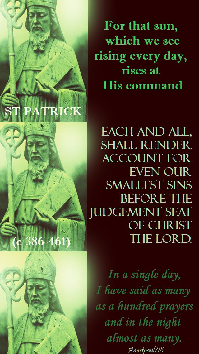 for that sun, which we see - st patrick - 17 march 2018