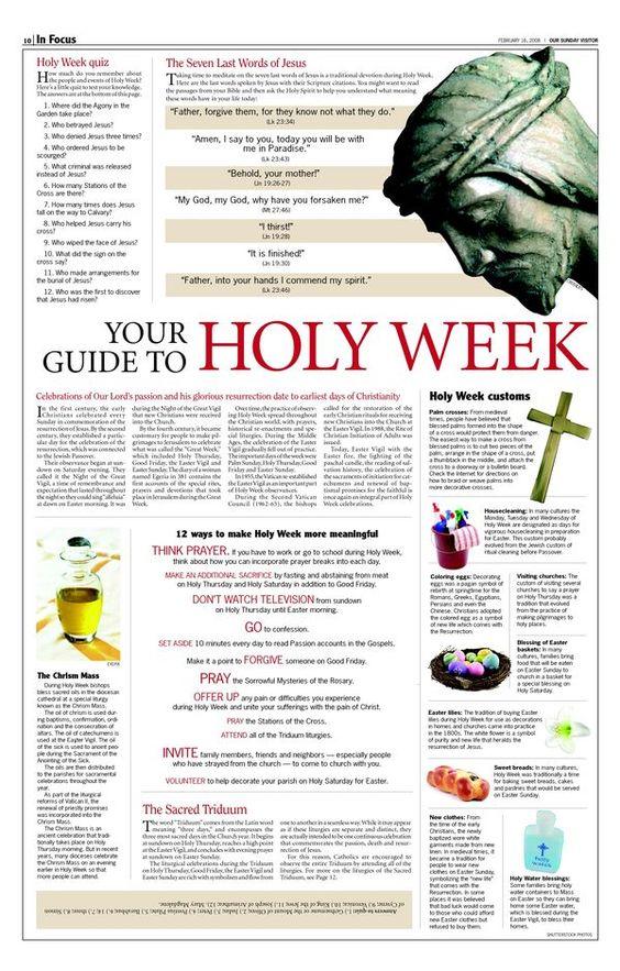 holy week info
