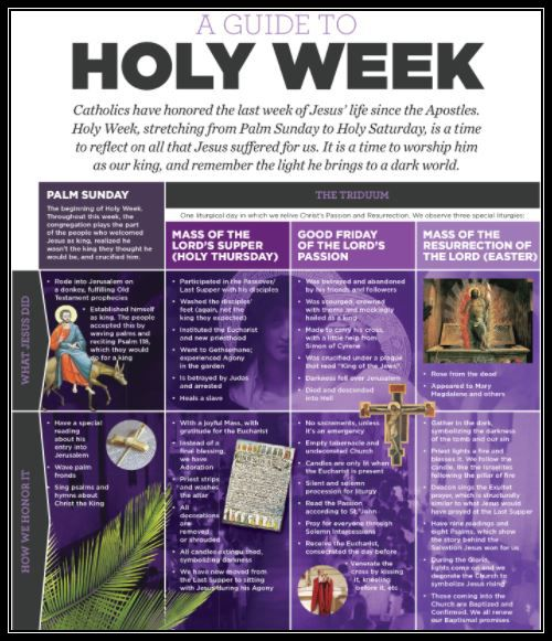 holy week with border