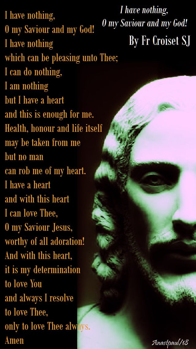 i have nothing o my saviour and my god - fr croiset sj - 14 march 2018