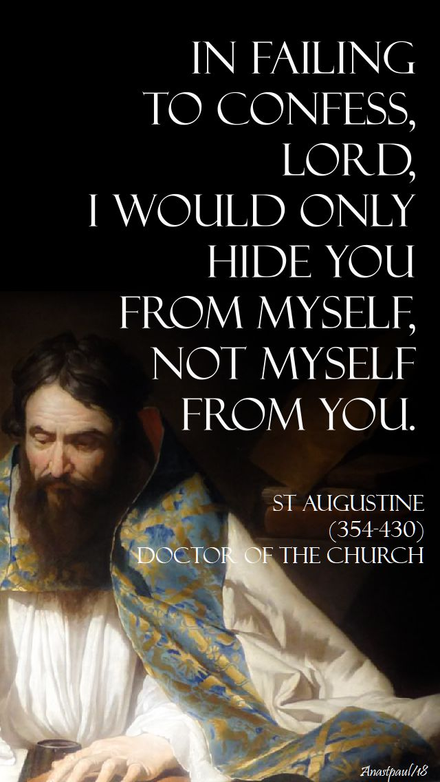 in failing to confess lord - st augustine - 13 march 2018