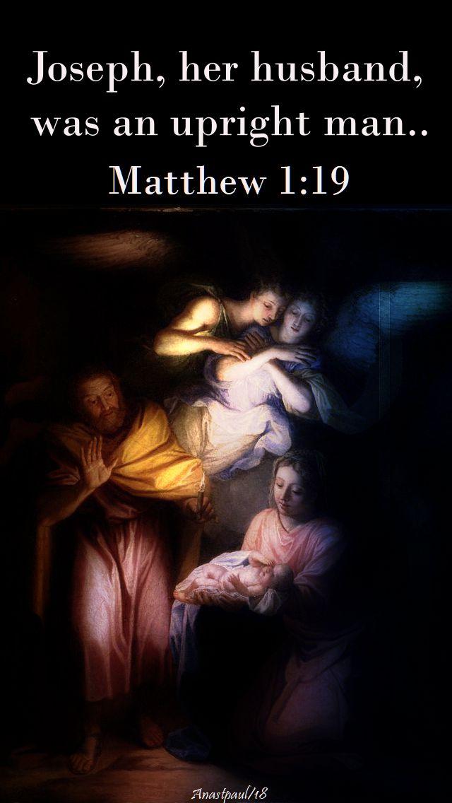 joseph her husband - matthew 1 19