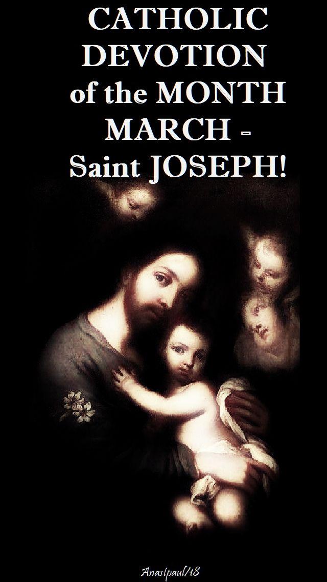 march devotion - st joseph - 1 march 2018