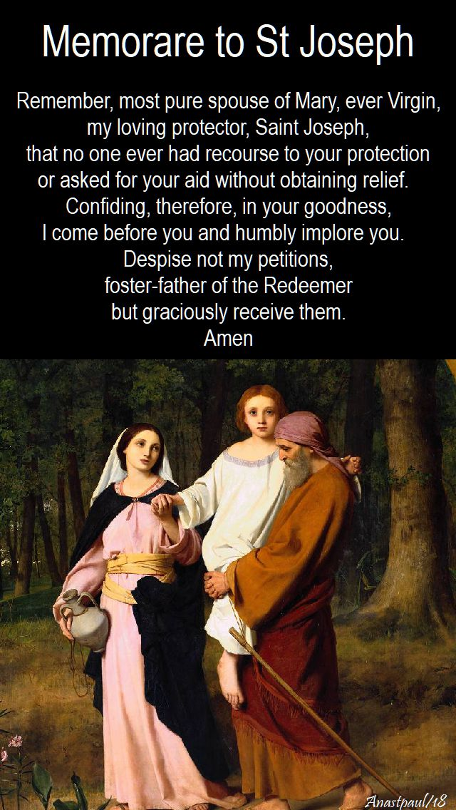 Memorare to St Joseph - 11 march 2018