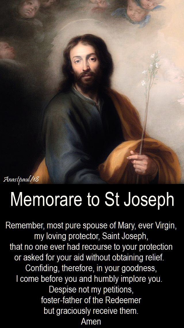 Memorare to St Joseph - 12 march 2018