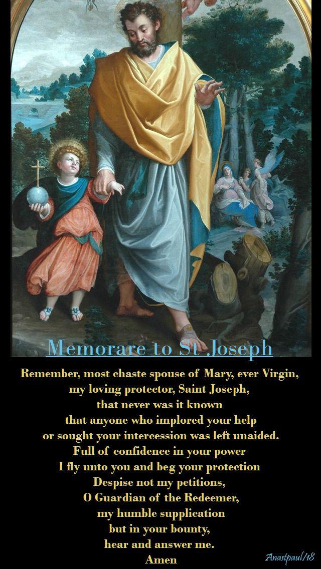 memorare to st joseph - day eight - 17 march 2018