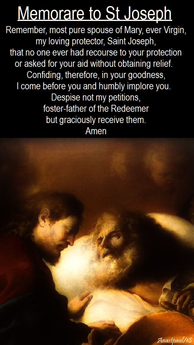 Memorare to St Joseph - DAY FOUR - SCHEDULED 13 march 2018