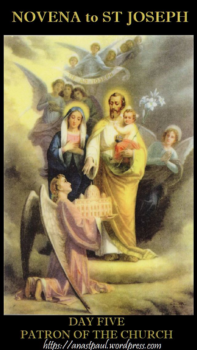 NOVENA TO ST JOSEPH - DAY FIVE - 14 MARCH 2018 -PATRON OF THE CHURCH
