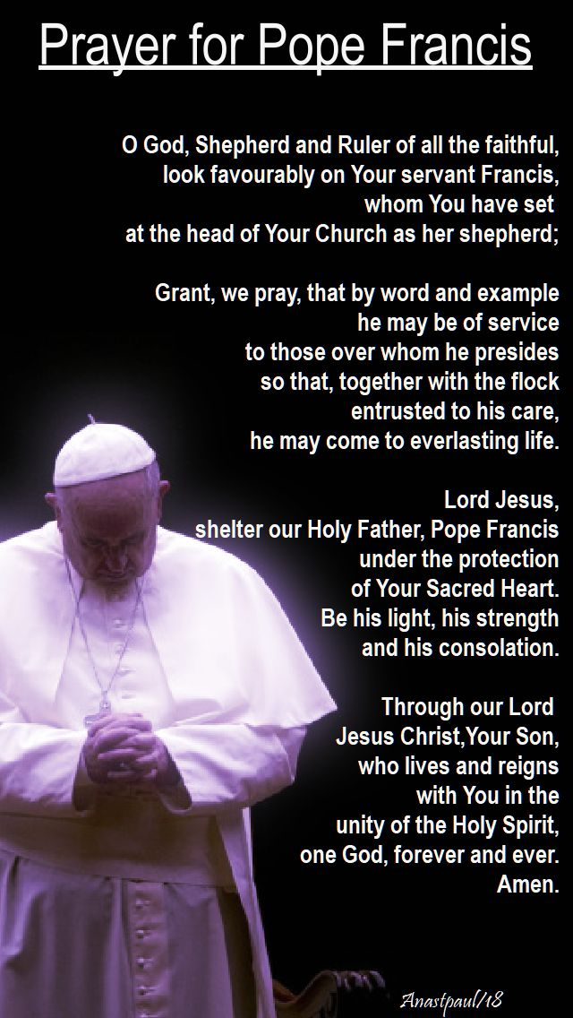 prayer for pope francis - 5th anniversary - 13 march 2018