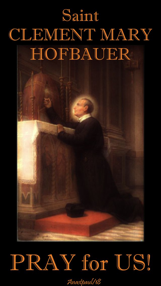 st clement mary hofbauer - pray for us - 15 march 2018-no 2