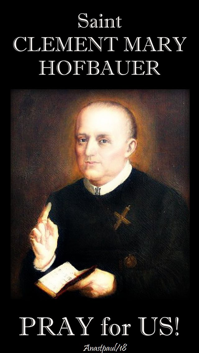 st clement mary hofbauer - pray for us - 15 march 2018-no 3