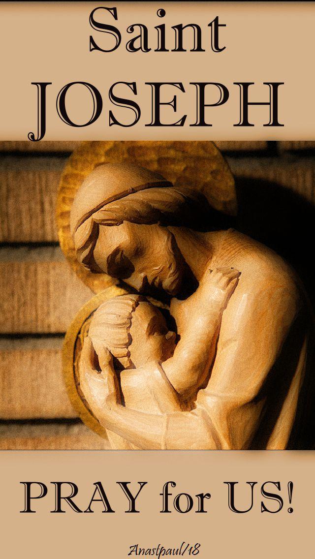 st joseph pray for us - 19 march 2018