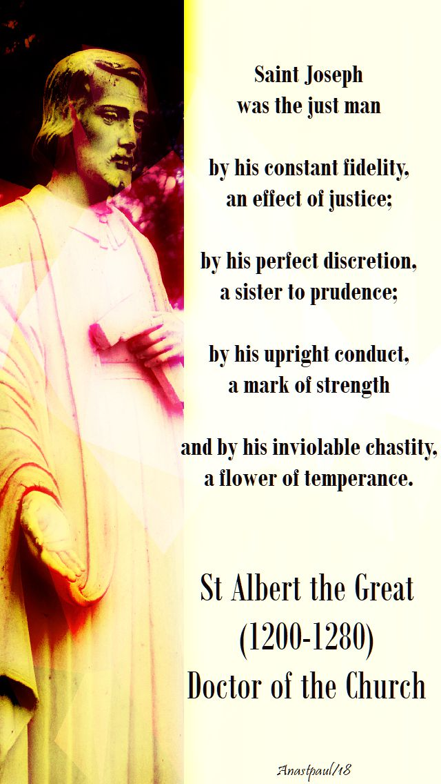 st joseph was the just man - st albert the great - 19 march 2018