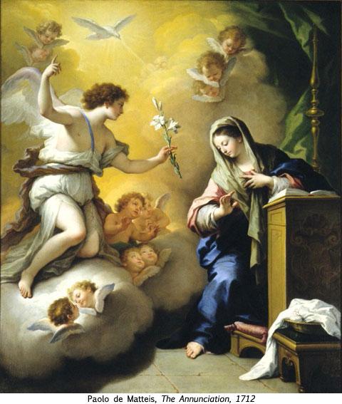 the annunciation - paolo de matteis 1712