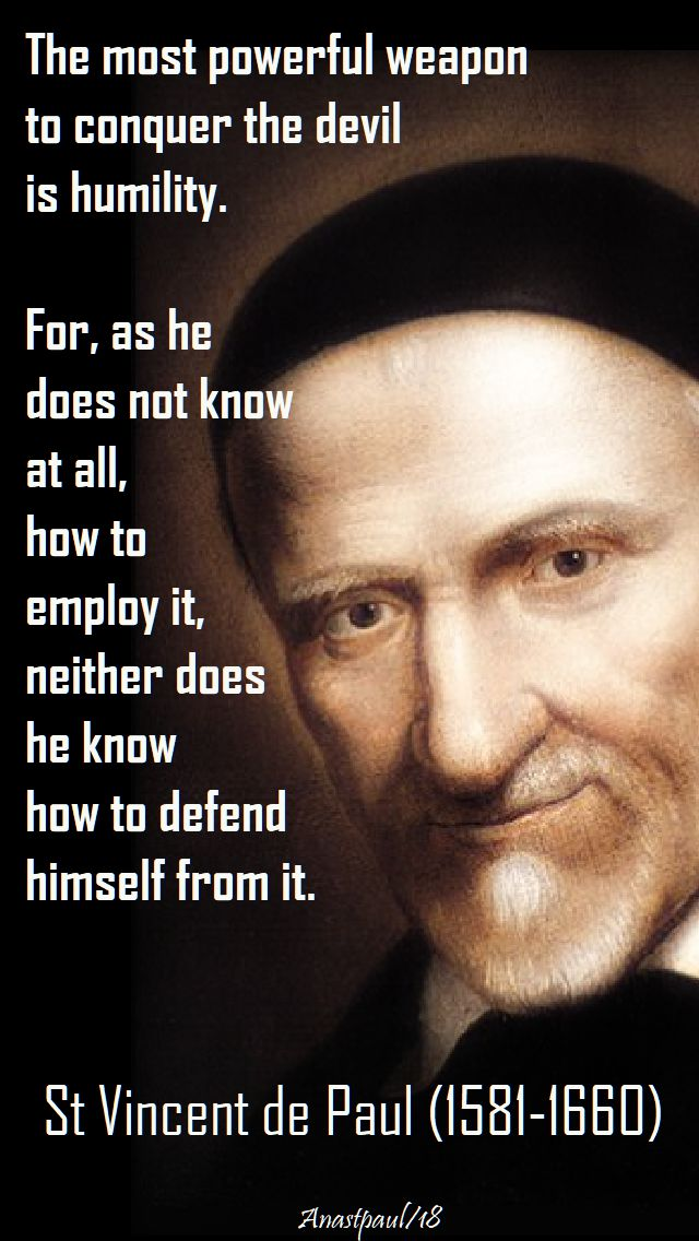 the most powerful weapon - st vincent de paul - speaking of humility - 22 march 2018