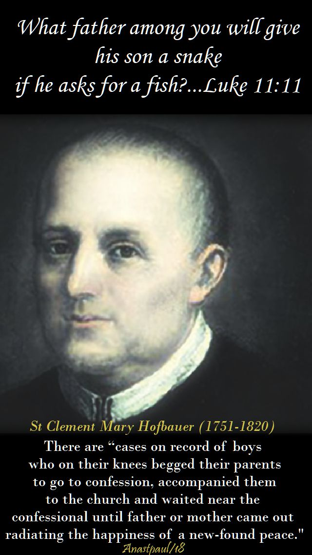 there are cases on record - st clement mary hofbauer - 15 march 2018