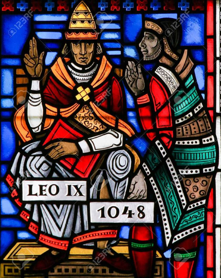 Stained Glass in Worms - Pope Leo IX