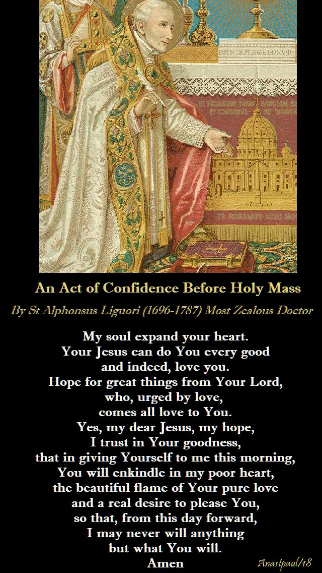 ac act of confidence before Holy Mass - st Alphonsus - 29 april 2018 - 5th sunday of easter