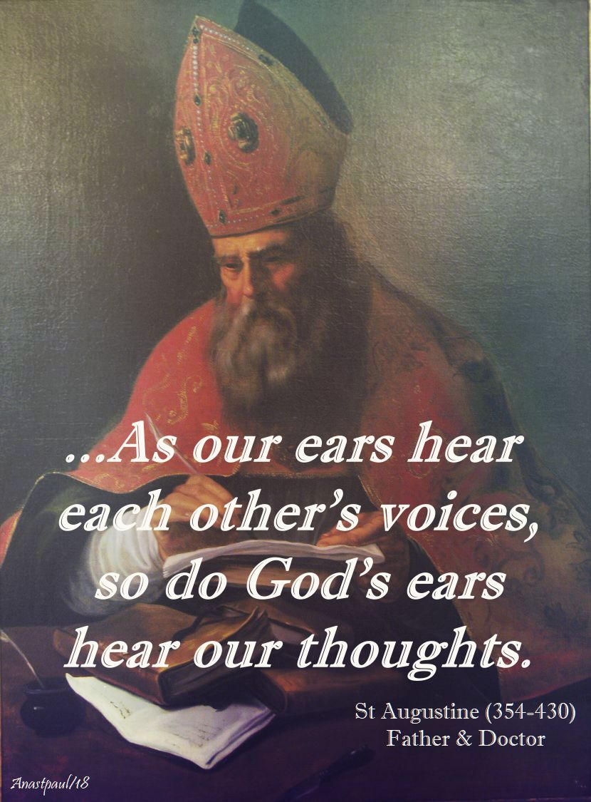 as our ears hear each other's voices - st augustine - 8 april 2018 - low monday of eastertide