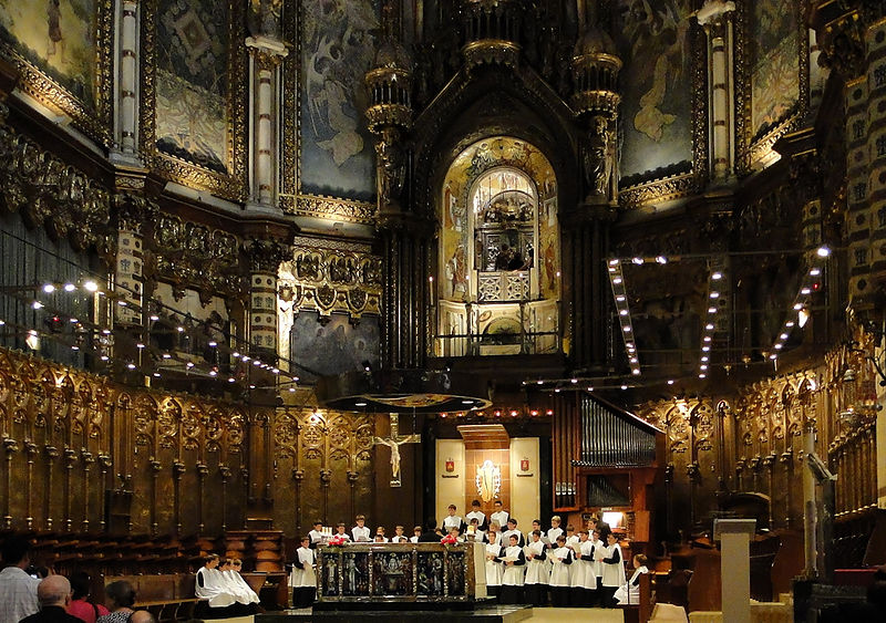 basilica of the Abbey of Montserrat, Catalonia, Spain