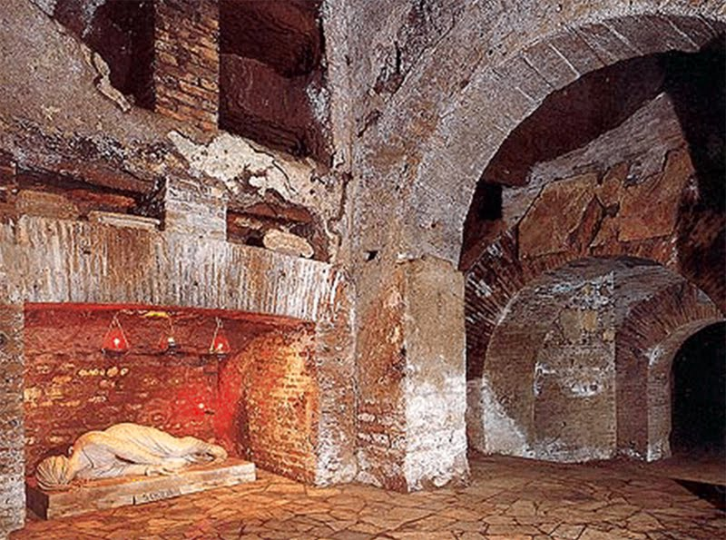 cecilia-3.Callistus Catacombs - Rome