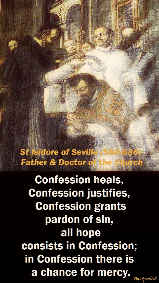 confession heals - st isidore - 4 april 2018