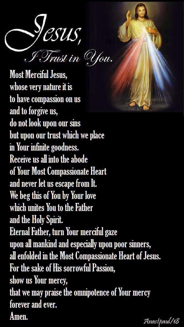 div mercy prayer - day one from the novena - 8 april 2018 for div mercy sunday