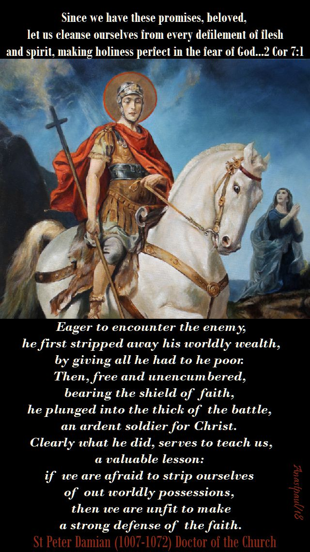 eager to encounter the enemy - st peter damian on st george - 23 april 2018