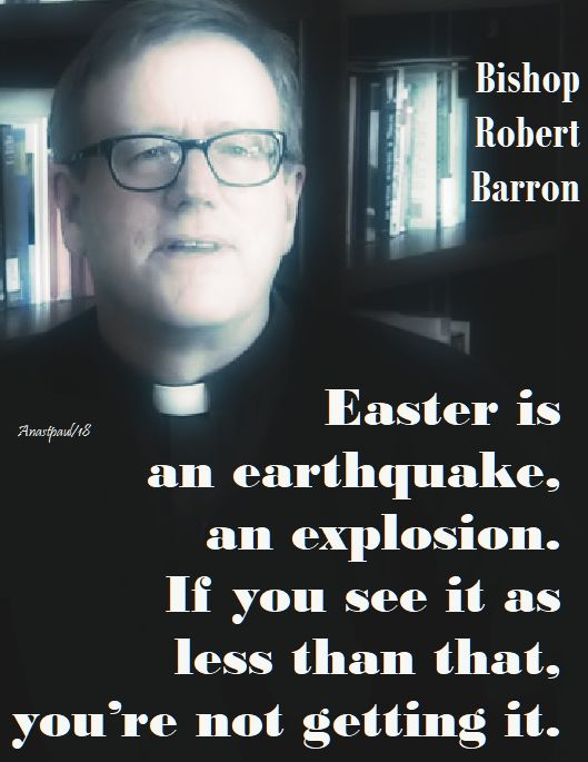 easter is an earthquake - bishop barron - 25 april 2018