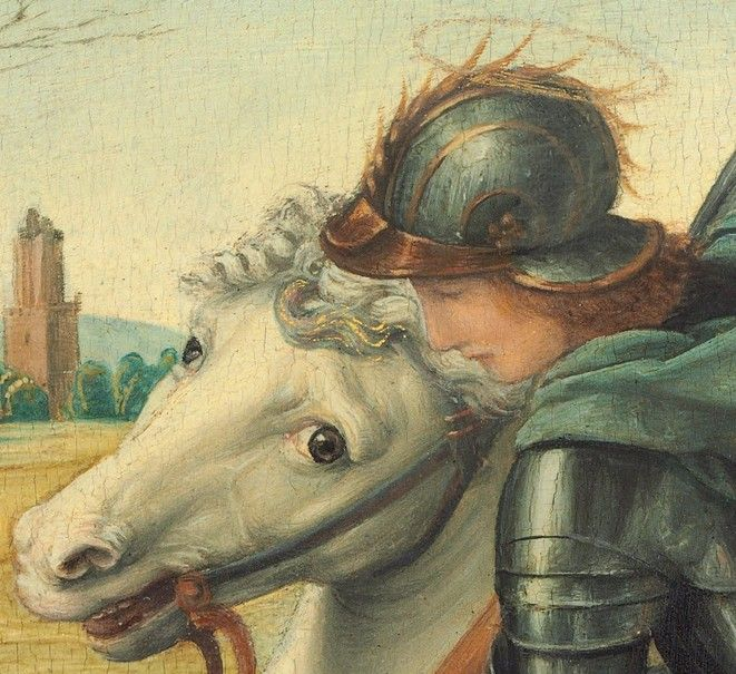 header - Detail from Saint George and the Dragon, Raphael, about 1506 ·